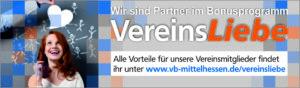 Wir sind Partner im Bonusprogramm VereinsLiebe der Volksbank Mittelhessen